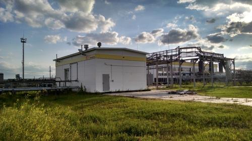 насосная станция на нефтеперерабатывающем заводе